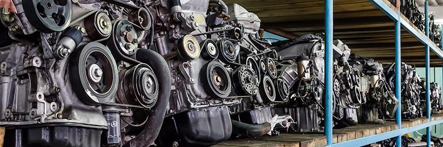 Склад контрактных двигателей